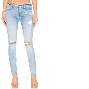 7 For All Mankind The Skinny Distressed Jeans 29